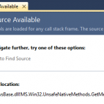 "Visual Studio Extension: Hide ""No Source Available"" tab"